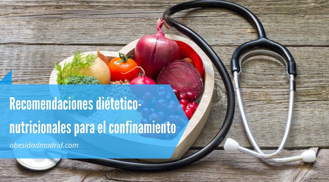 recomendaciones nutricionales para el confinamiento