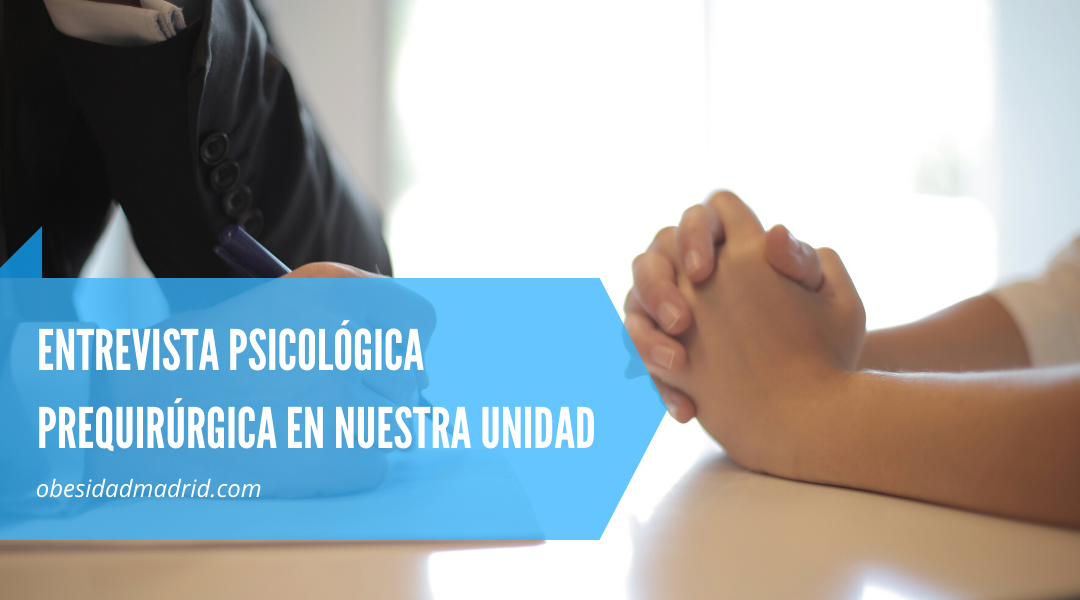 entrevista psicológica prequirúrgica